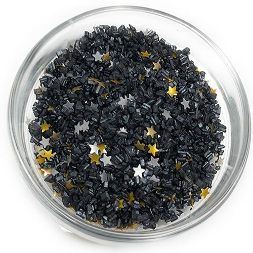 (Ultimate Baker Starry Night Glitter - Edible Glitter and All Natural Black Sugar Cake Decorating Mix (1x1lb Bag))