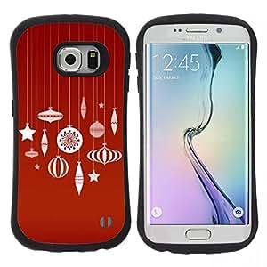 """Hypernova Slim Fit Dual Barniz Protector Caso Case Funda Para Samsung Galaxy S6 EDGE [Merry rojas Decoraciones blancas""""]"""
