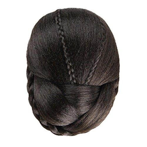 DEESEE(TM) Fashion New Womens Ladies Hair Braided Wig Bun Cosplay Wig (Brown) (Brown Braided Wig)