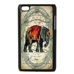 Unique Design -ZE-MIN PHONE CASE- FOR IPod Touch 4th -Animal Elephant Pattern-CUSTOM-DESIGH 13