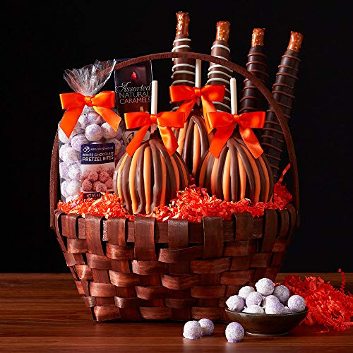 Mrs Prindables Classic Halloween Caramel Apple Gift Basket -