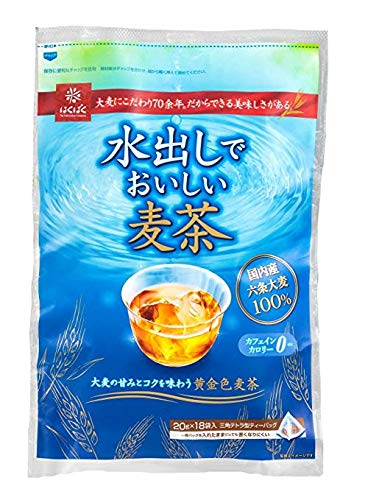- Hakubaku Japanese Mugicha (Barley) Tea for cold brew (Mizudashi) 18 bag