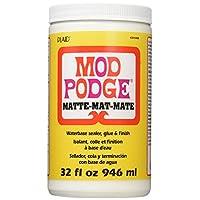 Mod Podge CS11303 Sellador de base de agua, pegamento y acabado, mate, 32 onzas