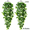 CEWOR 2pcs Artificial Hanging Plants 3.6ft Fake Ivy Vine Fake Ivy Leaves for Wall Home Room Garden Wedding Garland Outside Decoration