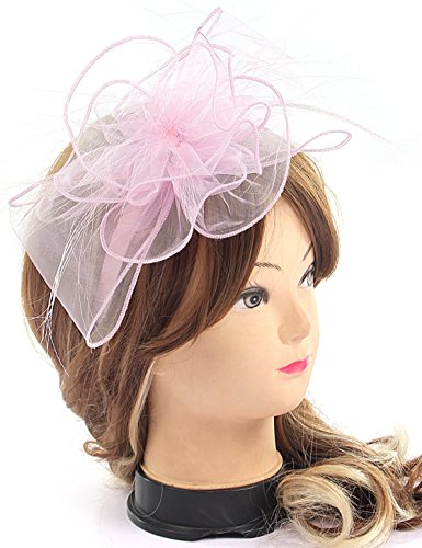 er Mesh Flower Derby Hat with Hairband Party Cocktail Tea Party Hats for Women (Lilac) ()