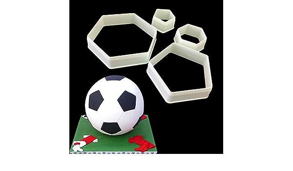 Vinciann - 4 moldes con forma de pentágono para recrear un balón ...