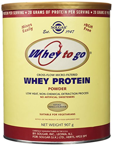 Solgar - Whey To Go  Protein Powder Natural Vanilla Flavor 32 oz by Solgar
