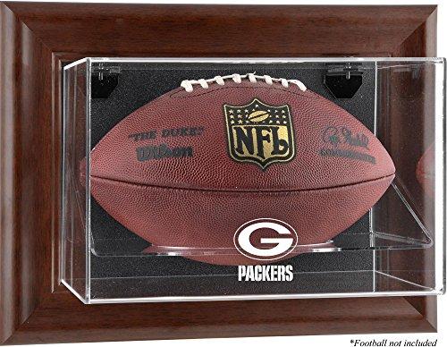 (Green Bay Packers Brown Framed Wall Mounted Logo Football)