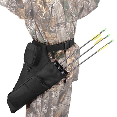 AMYIPO Colourful Duty Hip Quiver Hunting Training Archery Arrow Quiver Holder Waist Bow Bag Pouch for Hunting Shooting Recurve Bows, 3-Tubes or 4-Tubes