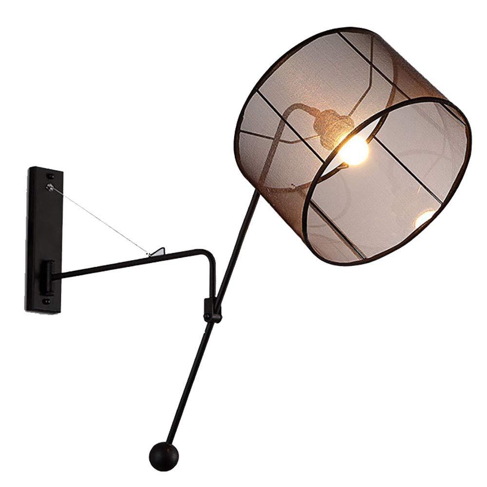 Kipphebel Wandleuchten Retro Schmiedeeisen LED wandlampen Vintage Industrieller Wind Wallwasher Stacheldraht Lampenschirm Innenbeleuchtung Restaurant Kinderzimmer Schlafzimmer Nachttischlampe