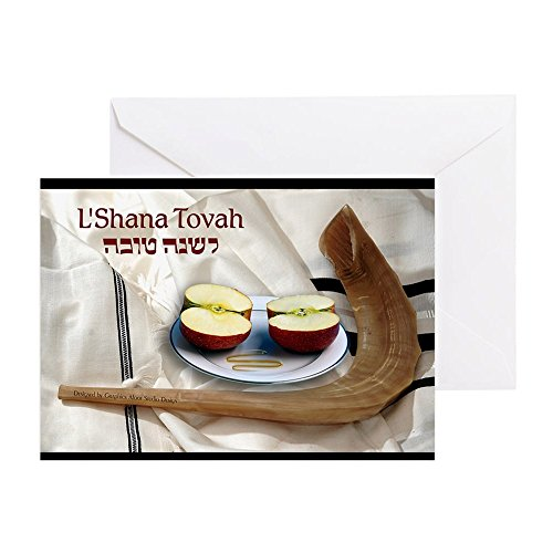(CafePress Rosh Hashanah W/Shofar Greeting Card, Note Card, Birthday Card, Blank Inside Matte)