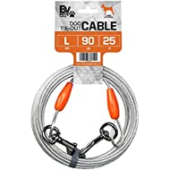 BV Pet Reflective Tie Out Cable for Large Dog up to 90 pound, 25 Feet