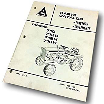 amazon com allis chalmers 700 series parts catalog manual list lawn rh amazon com Allis Chalmers C Allis Chalmers Garden Tractors