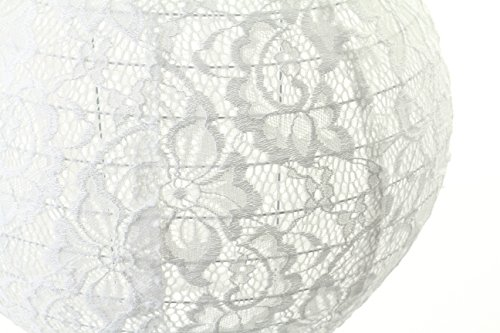 (Andaz Press Hanging Lace Lanterns Decorations, Real Lace Fabric, 8-inch and 10-inch, 2-Pack, For Burlap and Lace Theme Wedding Bridal Baby Shower 1st Birthday Party Supplies Girl Nursery)