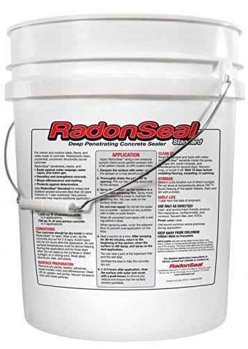 RadonSeal® Standard – Deep Penetrating Concrete Sealer 5gal | Basement Waterproofing amp Radon Mitigation Sealer | Seals Concrete Against Water Water Vapor and Radon Gas | Permanent