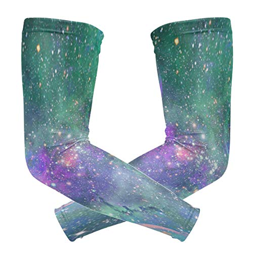 Arm Sleeves Cosmic Ashes Mens Sun UV Protection Sleeves Arm Warmers Cool Long Set Covers
