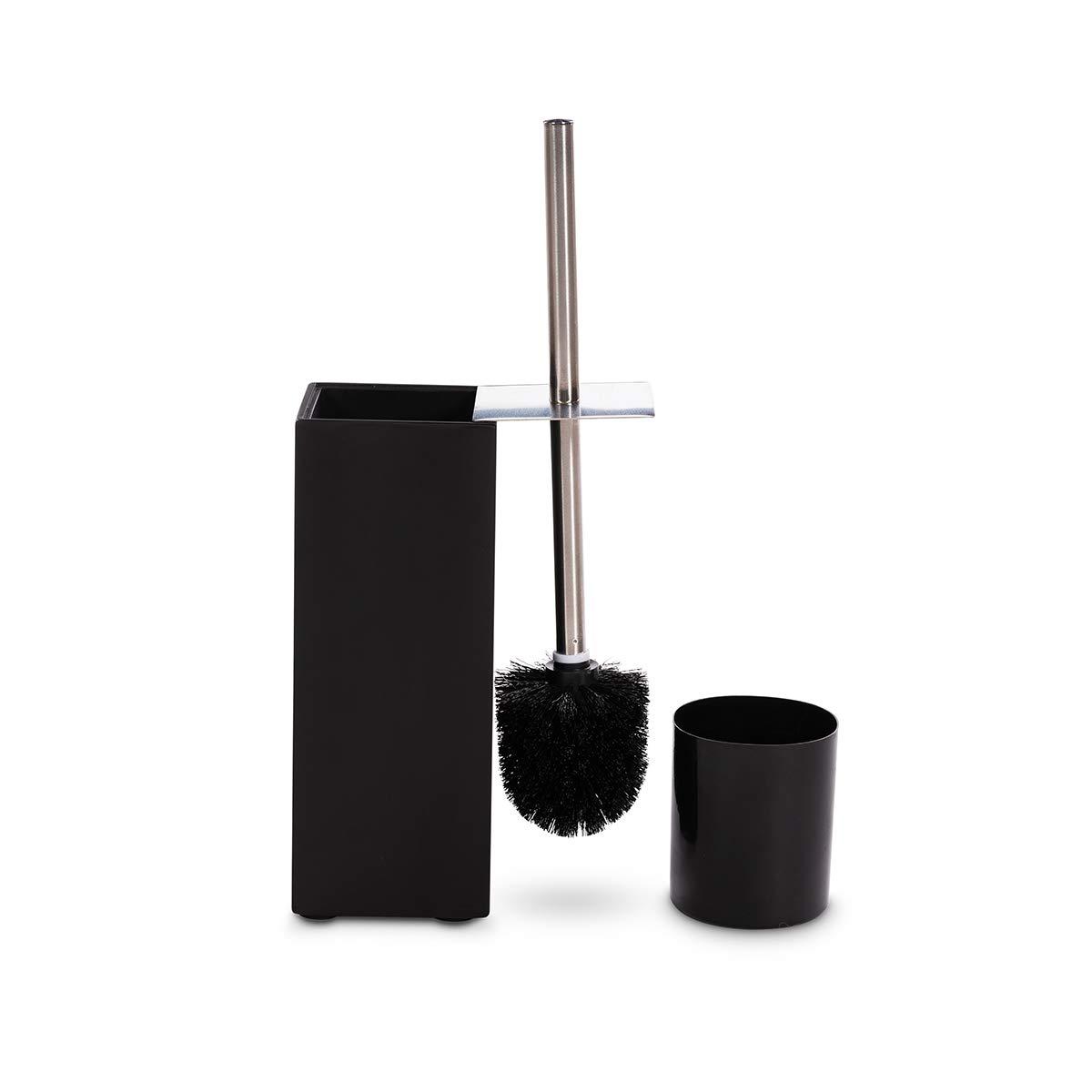 GOBAM Toilet Bowl Brush and Holder Black Toilet Brush Cleaner with 304
