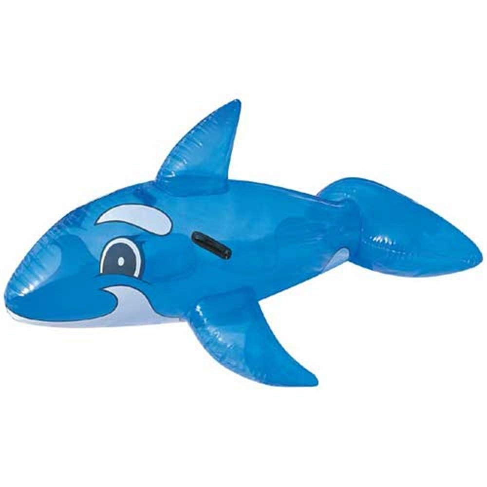 Bestway 62 X 37 Transparent Inflatable Outdoor Whale Ride On Swimming Pool Beach Toy by Bestway