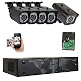 GW Security 8 Channel NVR H.265 License Plate PoE Security Camera System with 4 x 5MP 1920p 2.8-12mm Varifocal Bullet IP Camera and 1 x 3MP 1536p IP License Plate Camera