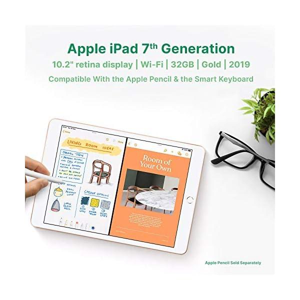 "Apple iPad | 10.2"" | 7th GEN | WI-FI | 32GB | Gold | 2019 | (Renewed) 4"