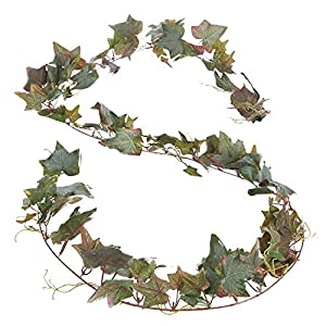 Factory Direct Craft 12 Feet of Artificial English Ivy Leaf Garland for Home Decor, and Displaying 1