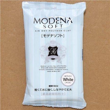 white soft & light Modena soft clay Japan Padico by Padico Clay Air Drying Polymer Clay