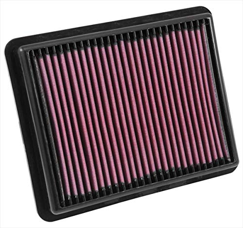 K&N engine air filter, washable and reusable:  2012-2019 Mazda L4 (CX-5, CX-9, 6, 2, Atenza, Axela 33-3024 (N/a Cx Replacement)