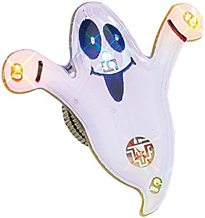 Spilla magnetica a LED fantasma bianco