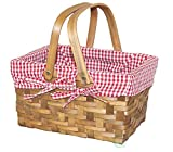 Vintiquewise(TM Rectangular Basket Lined with Gingham Lining, Small (36) Review
