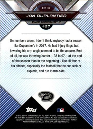 2018 Bowman Chrome Refractor Scouts Top 100#BTP-57 Jon Duplantier Arizona Diamondbacks Baseball Card