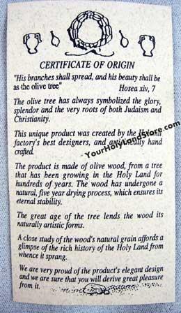 Yourholylandstore Olive Wood Mezuzah From Israel by YourHolyLandStore by YourHolyLandStore (Image #3)