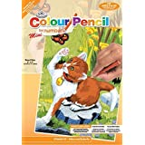 Royal & Langnickel Mini Colour Pencil By Number Kit: 5x7 Kitten & Butterfly by Royal & Langnickel