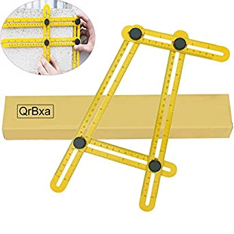 QrBxa Angleizer Template Tool - Measures All Angles and Forms Angle-izer Angle Template Tool for Handymen, Builders, Craftsmen