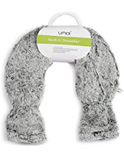 Premium kruik PVC voor nek en schouder, nekkruik, hoogwaardige zachte fleecehoes met extra voering, 2 liter, klittenbandsluiting, BS1970:2012 gecertificeerd - nieuw model