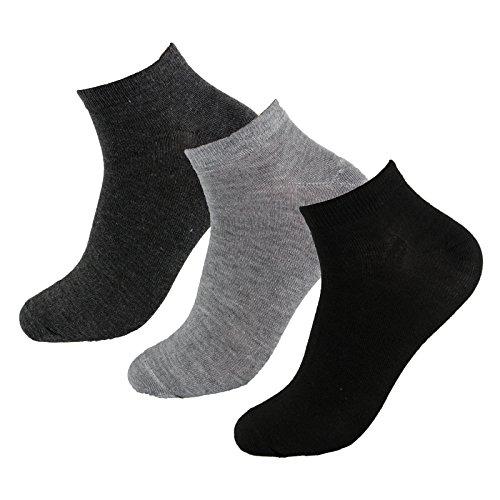 12 Paar Damen-Herren Sneaker-Socken Füßlinge 39/42 Farbenmix