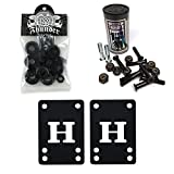 Thunder Skateboard Bushings 100a Conical Black + H Block Risers 1'' Hardware