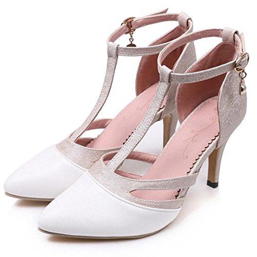 Pointure Gold Femmes Escarpins RAZAMAZA Chaussures Salome qwWRUxH6