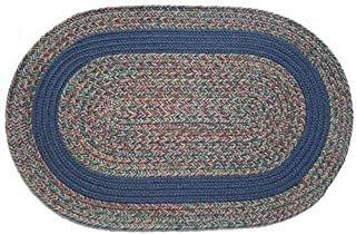 product image for Oval Braided Rug (3'x5'): Barbara Blend - Navy Band