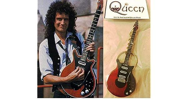 Llavero de guitarra roja especial Brian May Queen: Amazon.es: Instrumentos musicales