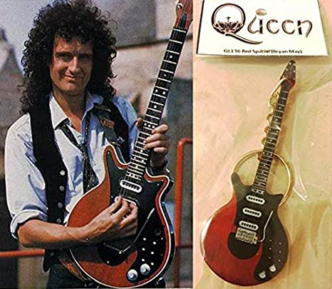 Llavero de guitarra roja especial Brian May Queen: Amazon.es ...
