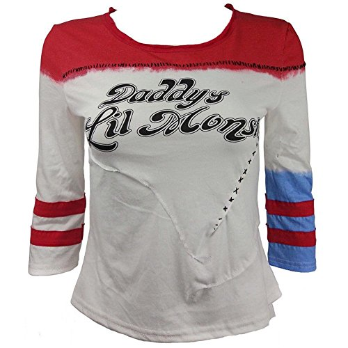 Cercur Women's Suicide Squad Harley Quinn Shirt Daddys Little Monster Costume T-Shirt]()