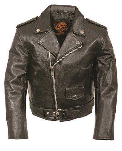 Milwaukee Leather Kids Basic Motorcycle Jacket (Black, 3X-Large)