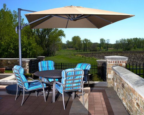 Beautiful 10' Cantilever Pool & Patio Um - Cedar Outdoor Patio Umbrella Shopping Results