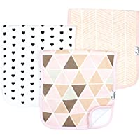 Baby Burp Cloth Large 21''x10'' Size Premium Absorbent Triple Layer 3 Pack Gi...