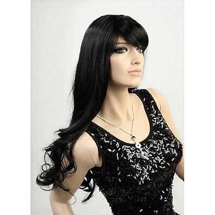 Nueva PELUCA Wig Loutoff de pelo negro largo atrajiste S418-1