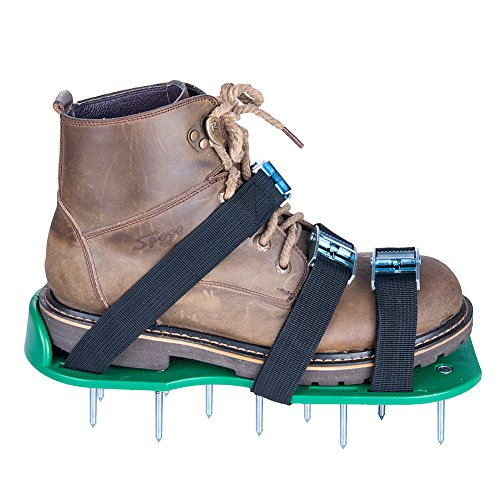 SiGuTie Lawn Aerator Shoes, Spiked Lawn Aerating Sandals Heavy Duty Garden Tool with Metal Buckles and 3 Adjustable Straps Universal Size for Aerating Garden or Yard, Extra Wrench and Instructions by SiGuTie (Image #7)