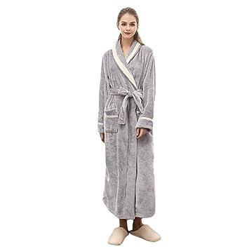 MERRYHE Unisex Ropa De Dormir De Franela Batas De Baño Suaves Vestidos Largos Toallas De Baño