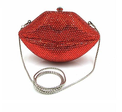 Nai Li Paquete De Labios Huecos Para Mujer Europa Y La Moda De Los Estados  Unidos Bolsos De Diamantes Hechos A Mano Banquete Red Para Venta