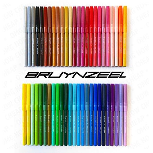Bruynzeel–Mega Lot de 50feutres de coloriage Assortis Pointe Feutre