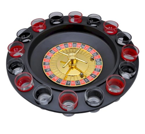 Maxam™ 16-Shot Roulette Drinking Game Set / roulette game by Evelots